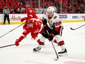 Former Ottawa Senators center Matt Duchene looks for a shot against the Detroit Red Wings