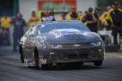 Pro Stock driver Bo Butner racing on Friday at the 2019 Amalie Motor Oil NHRA Gatornationals