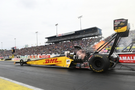 Crampton wins the Top Fuel 50th Gatornationals