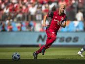 Toronto FC midfielder Michael Bradley playing against NYFC