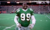 Former defensive tackle Jerome Brown on the field as a member of the Philadelphia Eagles