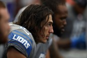 Former Detroit Lions tight end Luke Willson on the sidelines against the Dallas Cowboys