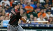 Former Arizona Diamondbacks first baseman Paul Goldschmidt doubles in the seventh inning against the Houston Astros