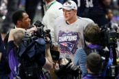 Former New England Patriots tight end Rob Gronkowski after winning Super Bowl LIII against the Los Angeles Rams