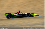 IndyCar driver Sébastien Bourdais driving the Dale Coyne Racing with Vasser-Sullivan during practice at the Verizon IndyCar Series Sonoma Grand Prix