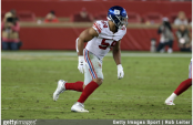 Former New York Giants defensive end/linebacker Olivier Vernon in action against the San Francisco 49ers