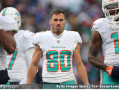 Former Miami Dolphins wide receiver Danny Amendola on the field against the Buffalo Bills