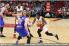Miami Heat guard Josh Richardson dribbles to the basket against the New York Knicks