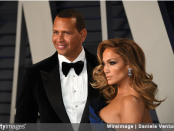 Former MLB player Alex Rodriguez and singer Jennifer Lopez attend the 2019 Vanity Fair Oscar Party