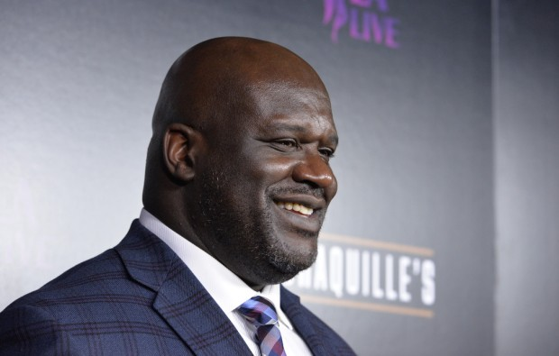 NBA legend Shaquille O'Neal at the Grand Opening of Shaquille's at L.A. Live