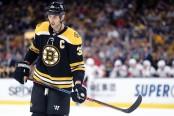 Boston Bruins defenseman Zdeno Chara looks on against the Washington Capitals
