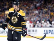 Boston Bruins defenseman Zdeno Chara looks on against the Washington Capitals