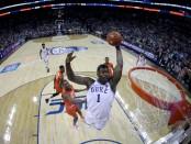 Duke Blue Devils forward Zion Williamson dunks the ball against the Syracuse Orange