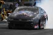 Pro Stock driver Bo Butner racing on Friday at the Denso Spark Plugs NHRA Four-Wide Nationals