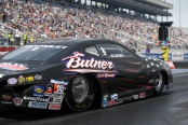 Pro Stock driver Bo Butner racing on Saturday at the Denso Spark Plugs NHRA Four-Wide Nationals