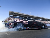 Pro Stock racer Bo Butner racing on Sunday at the Denso Spark Plugs NHRA Four-Wide Nationals
