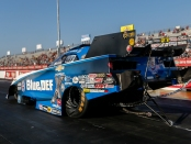 Funny Car pilot John Force racing on Saturday at the Mopar Express Lane NHRA SpringNationals presented by Pennzoil