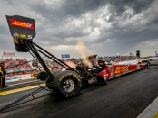 Top Fuel Dragster pilot Brittany Force racing on Saturday at the Mopar Express Lane NHRA SpringNationals presented by Pennzoil