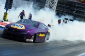 Former Pro Stock driver Vincent Nobile racing on Sunday at the DENSO Spark Plugs NHRA Four-Wide Nationals