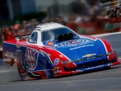 Funny Car pilot Robert Hight racing on Sunday at the 32nd annual Mopar Express Lane NHRA SpringNationals