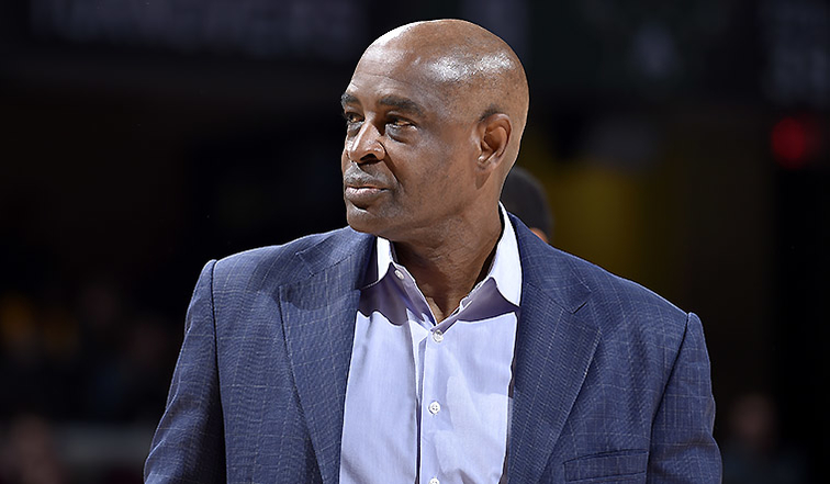Former Cleveland Cavaliers Interim Head Coach Larry Drew coaching against the Milwaukee Bucks