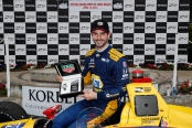 IndyCar driver Alexander Rossi after winning the Toyota Grand Prix of Long Beach