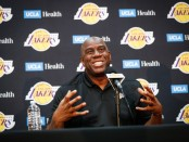 "Earvin ""Magic"" Johnson discusses the 2018-19 Los Angeles Lakers season at UCLA Health Training Center"