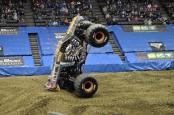 Max D Monster Truck doing the 2-Wheel Skills Challenge in Cincinnati, Ohio