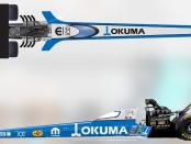 Pilot Leah Pritchett's Okuma DSR Top Fuel Dragster after their announcement