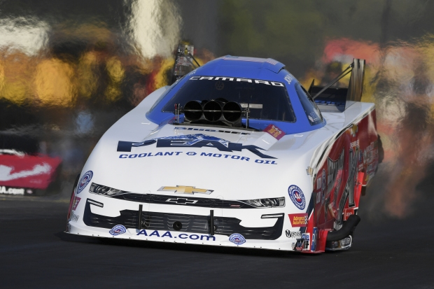 Living legend John Force racing on Friday at the Virginia NHRA Nationals