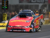 Former Funny Car pilot Courtney Force on Sunday at the NHRA Southern Nationals