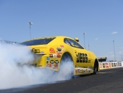 Pro Stock driver Jeg Coughlin Jr. racing on Sunday at the 2018 Route 66 NHRA Nationals