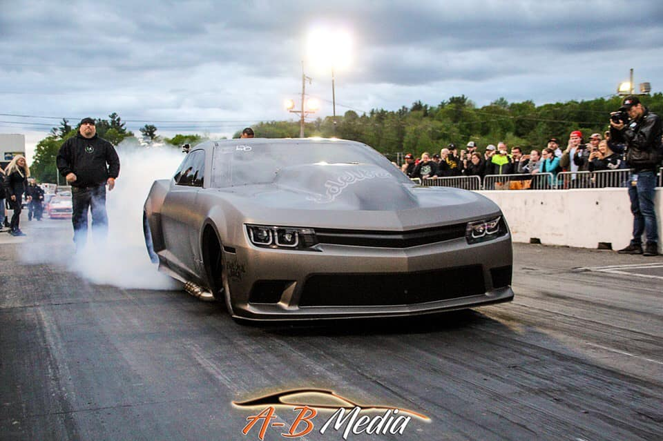 Drag Racer Lizzy Musi driving Aftershock at New England Dragway