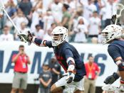 Attacker Ian Laviano after scoring a goal for Virginia in the NCAA Men's Lacrosse semifinal against Duke