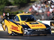 Funny Car pilot J.R. Todd racing on Saturday at the Menard's NHRA Heartland Nationals presented by Minties
