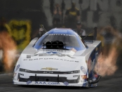 Funny Car pilot John Force racing on Friday at the NHRA Thunder Valley Nationals