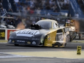 Funny Car pilot Ron Capps racing on Friday at the Route 66 NHRA Nationals
