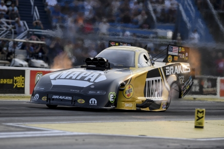 Capps is the Funny Car provisional leader at the 2019 Route 66 Nationals