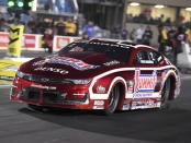 Pro Stock driver Greg Anderson racing on Saturday at the Route 66 NHRA Nationals