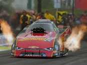 Former Funny Car pilot Courtney Force racing on Monday at the Menards NHRA Heartland Nationals presented by Minties