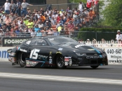 Former Pro Stock driver Tanner Gray racing on Sunday at the 2018 Summit Racing Equipment NHRA Nationals