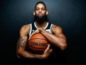 Former Brooklyn Nets shooting guard Allen Crabbe poses for a portrait during Media Day
