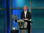 Former NASCAR Chairman and CEO Brian France speaks during the Monster Energy NASCAR Cup Series awards
