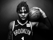 Brooklyn Nets point guard D'Angelo Russell poses for a portrait during the Nets 2018 Media Day