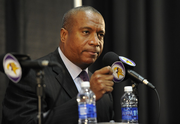 Former Minnesota Vikings COO Kevin Warren speaks to the media during a press conference at Winter Park
