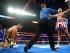 Brit Boxer Tyson Fury after knocking down German boxer Tom Schwarz