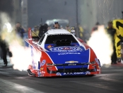 Funny Car pilot Robert Hight racing on Saturday at the Dodge Mile-High NHRA Nationals