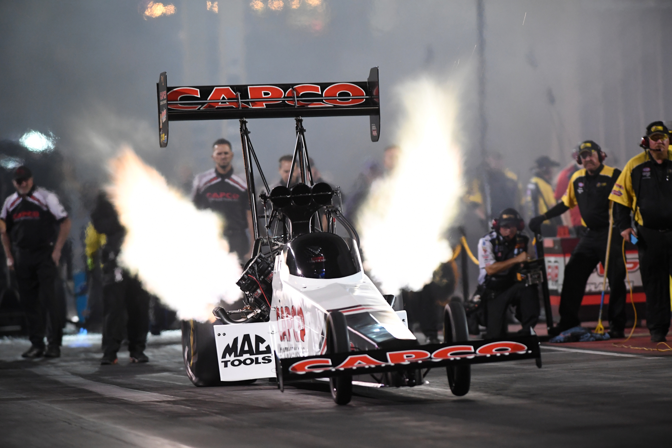 Top Fuel Dragster pilot Steve Torrence racing on Saturday at the Dodge Mile-High NHRA Nationals