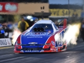 Funny Car pilot Robert Hight racing on Friday at the 2019 Toyota NHRA Sonoma Nationals