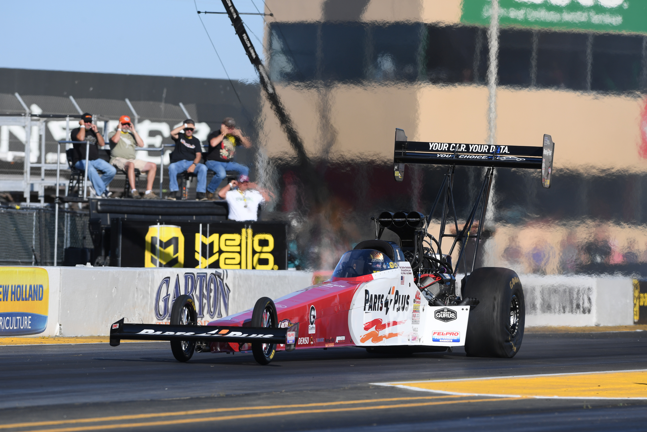 Top Fuel Dragster pilot Clay Millican racing at the 2019 Toyota NHRA Sonoma Nationals